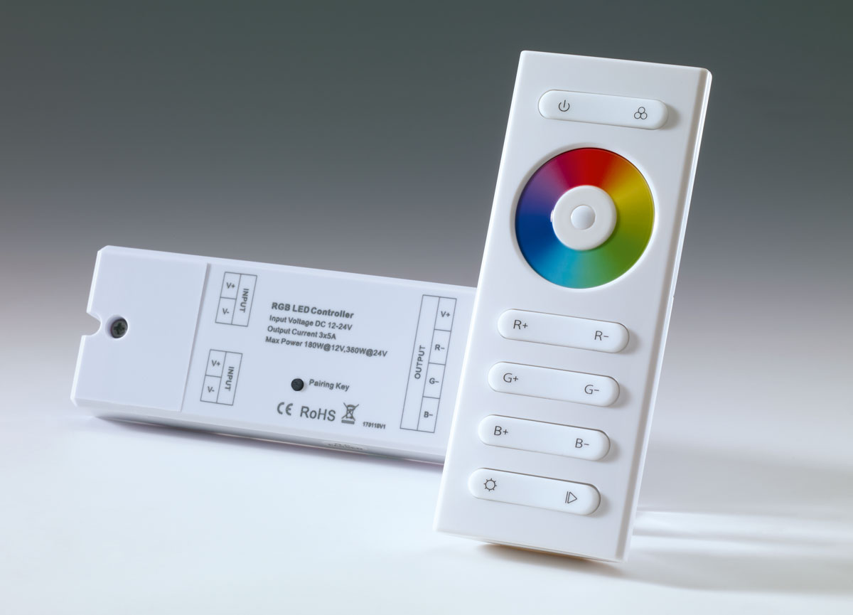 Basic remote control and receiver, RGB